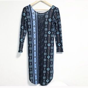 Katie K. Scoop back Soft boho knee length dress.